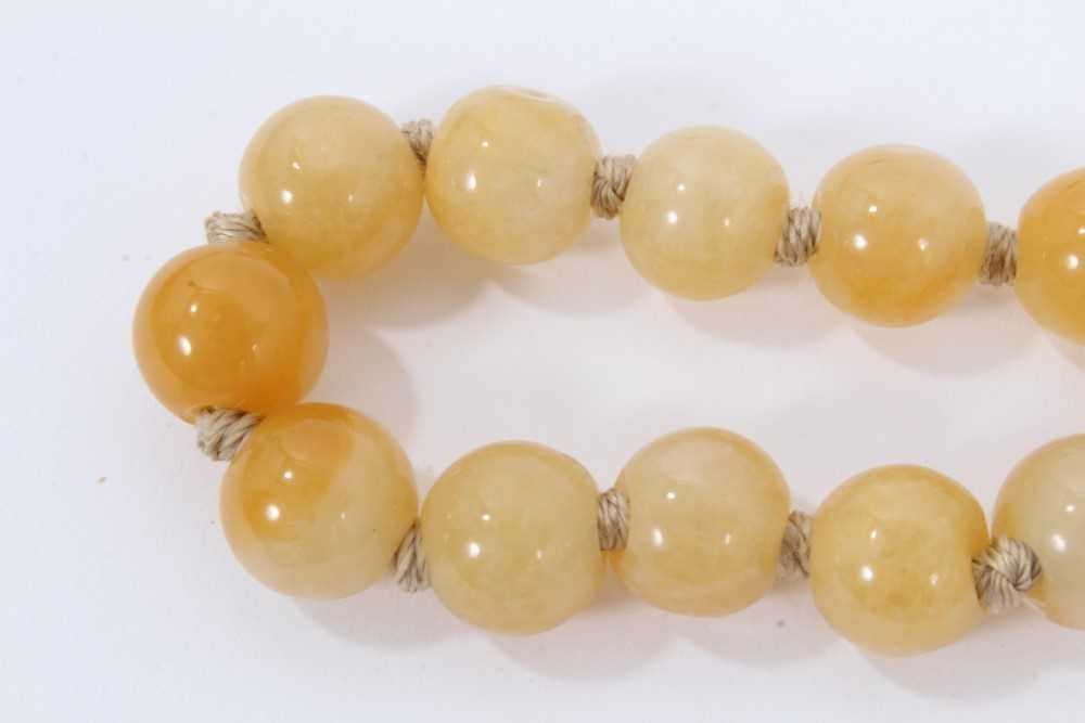 Jade bead necklace - Image 7 of 7