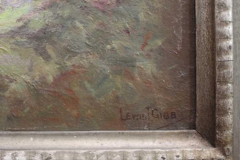 Lewis Taylor Gibb (1873-1945) oil on canvas - Extensive Scottish Landscape, signed, 63cm x 76cm, in - Image 2 of 14