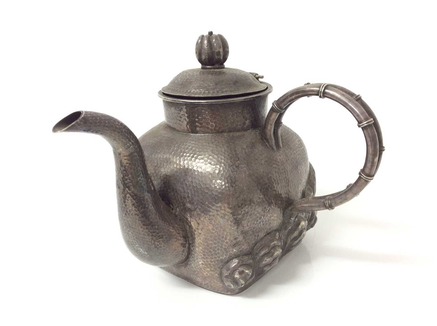 Chinese silver teapot and jug - Image 2 of 12