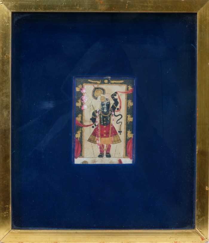 Very early, possibly 16th century Indian gouache miniature - Image 2 of 2