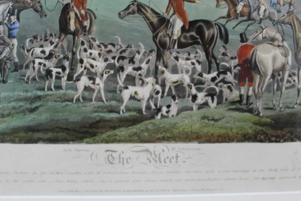 Henry Alken, five hand coloured engravings - The Quorn, in glazed frames - Image 8 of 19