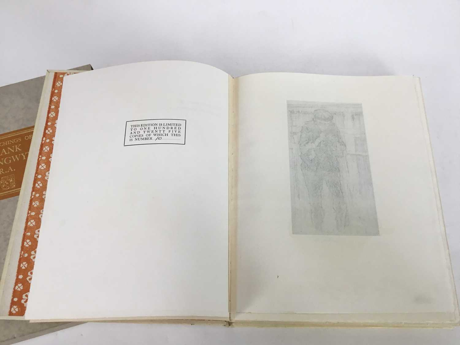 Book - The Etchings of Frank Brangwyn, R.A. A Catalogue Raisonne By W. Gaunt, limited edition 10/125 - Image 3 of 8