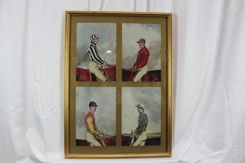 After Harry Hall, pair of coloured prints - Famous Jockeys, published by The Tryon Gallery, 57cm x 4 - Image 8 of 14