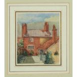 Thomas Churchyard (1798-1865) watercolour, a Woodbridge Cottage