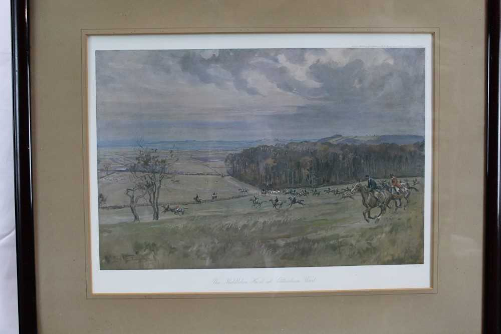 *Lionel Edwards (1878-1966) set of four hunting prints - The Old Surrey & Burstow, The South Notts, - Image 17 of 21