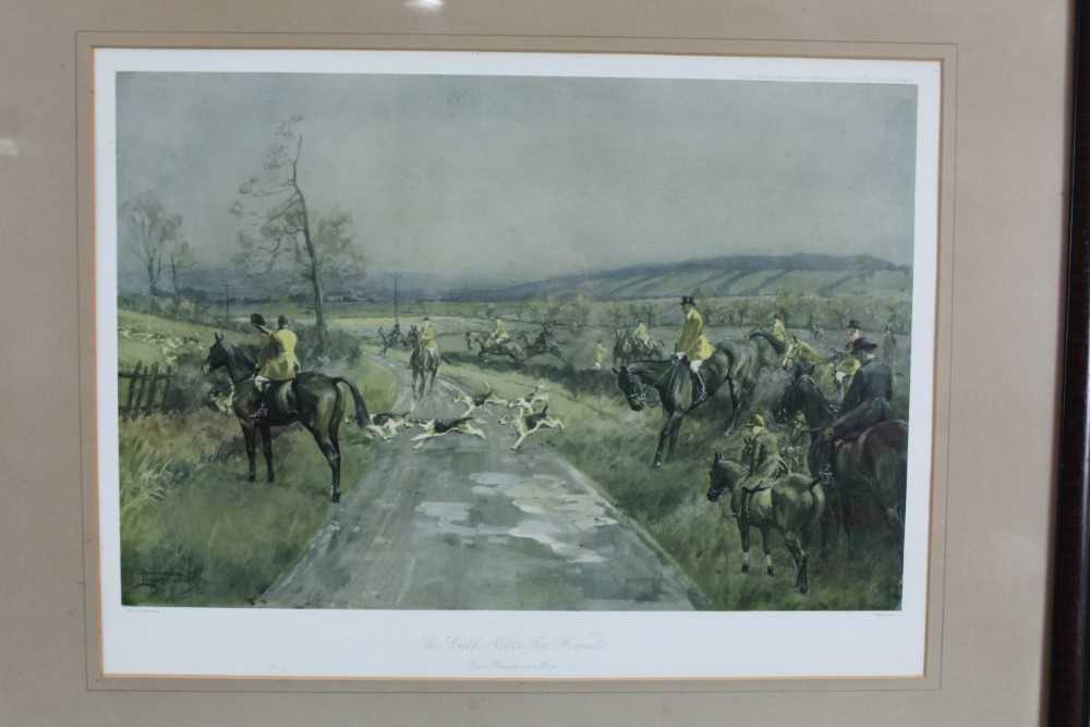 *Lionel Edwards (1878-1966) set of four hunting prints - The Old Surrey & Burstow, The South Notts, - Image 12 of 21