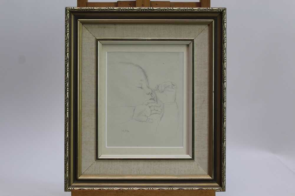Robert Sargent Austin (1895-1973) pair of pencil drawings - Restful Sleep and Baby Asleep, one dated - Image 2 of 10