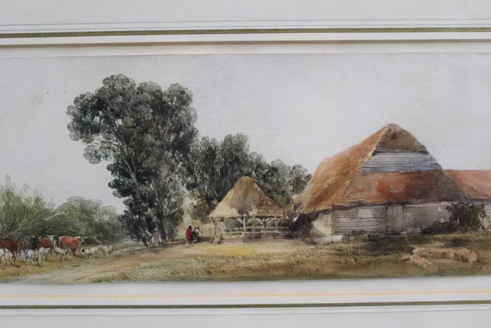 Edward Duncan (1803-1882) watercolour- Landscape with cattle - Image 4 of 7
