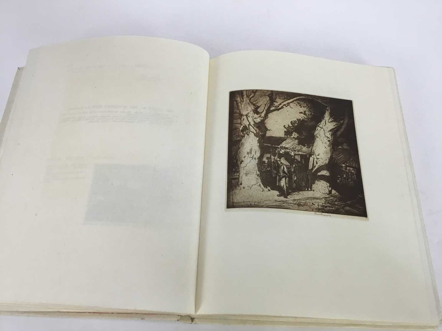 Book - The Etchings of Frank Brangwyn, R.A. A Catalogue Raisonne By W. Gaunt, limited edition 10/125 - Image 6 of 8