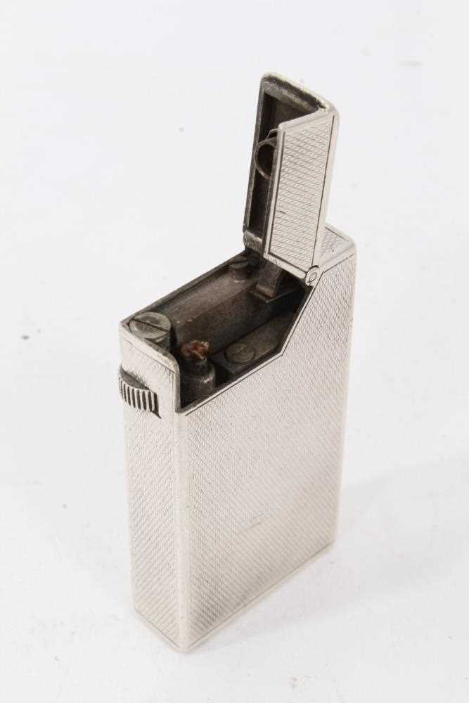 Late 1930s Dunhill silver petrol cigarette lighter (London 1939) Alfred Dunhill & Sons - Image 4 of 7
