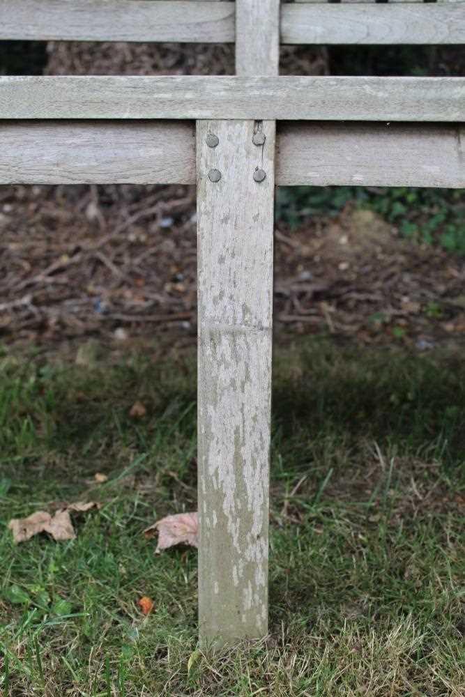 Teak garden bench - Image 5 of 5