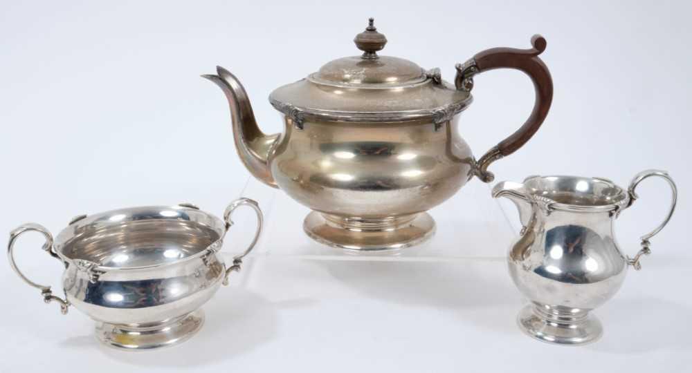 1920s silver three piece teaset
