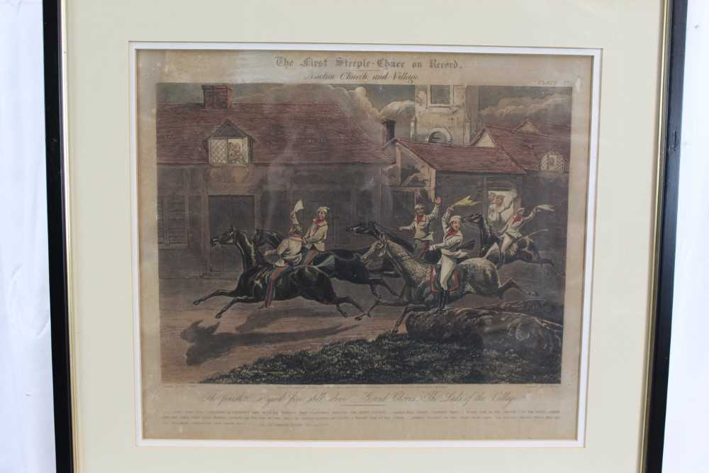Henry Alken, set of four hand coloured engravings - First Steeple Chase on Record