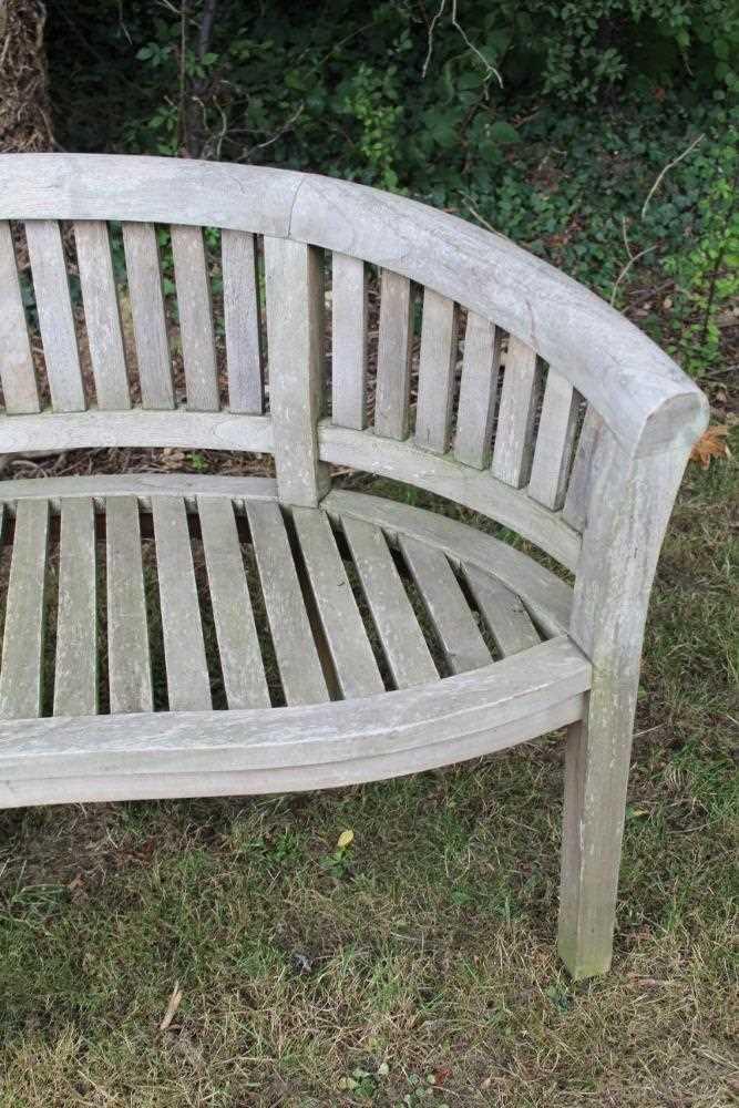 Teak garden bench - Image 4 of 5