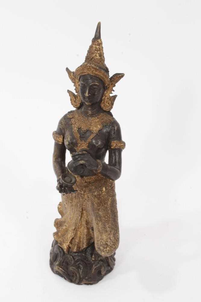 Burmese gilt bronze dancing figure - Image 4 of 5