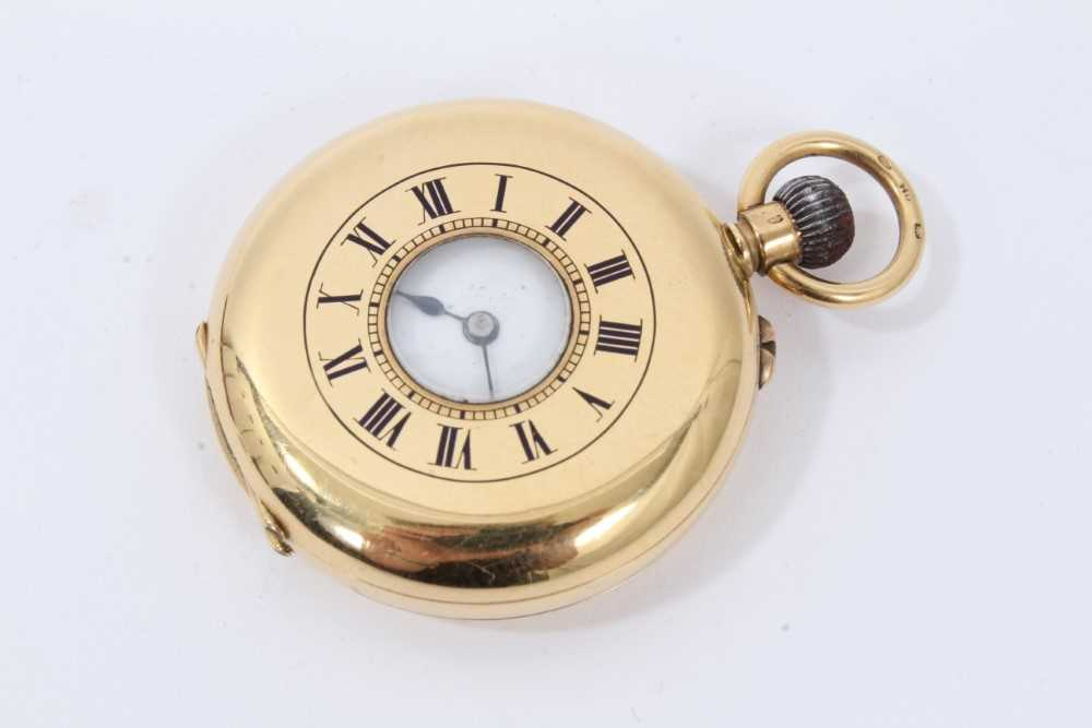 18ct gold fob watch