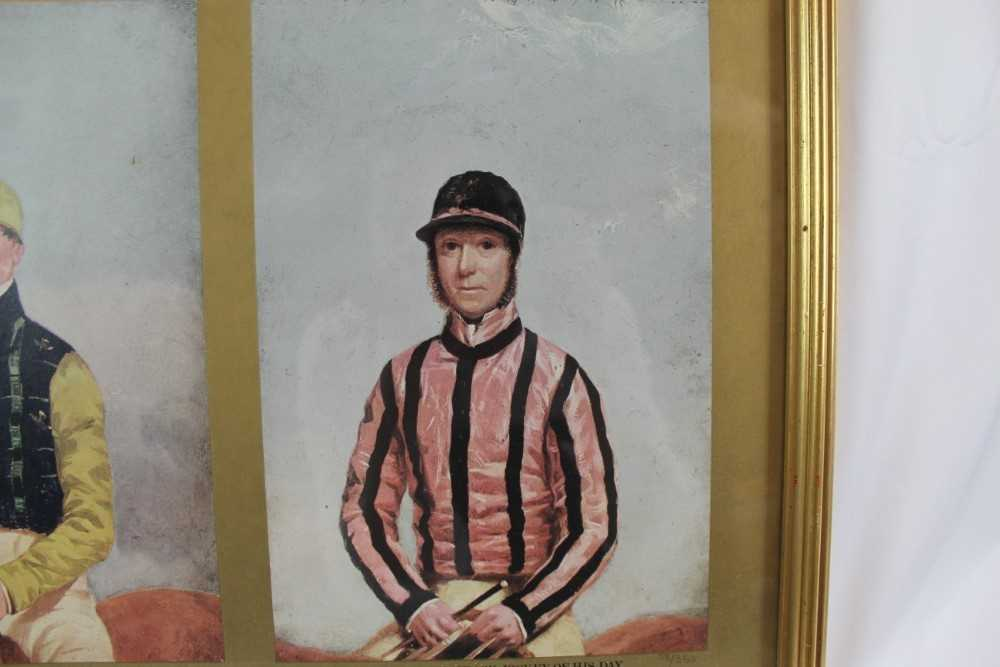 After Harry Hall, pair of coloured prints - Famous Jockeys, published by The Tryon Gallery, 57cm x 4 - Image 2 of 14