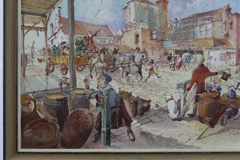 Peter Proud, watercolour - Adnams Brewery, Southwold, signed and dated '70, in glazed frame - Image 6 of 7