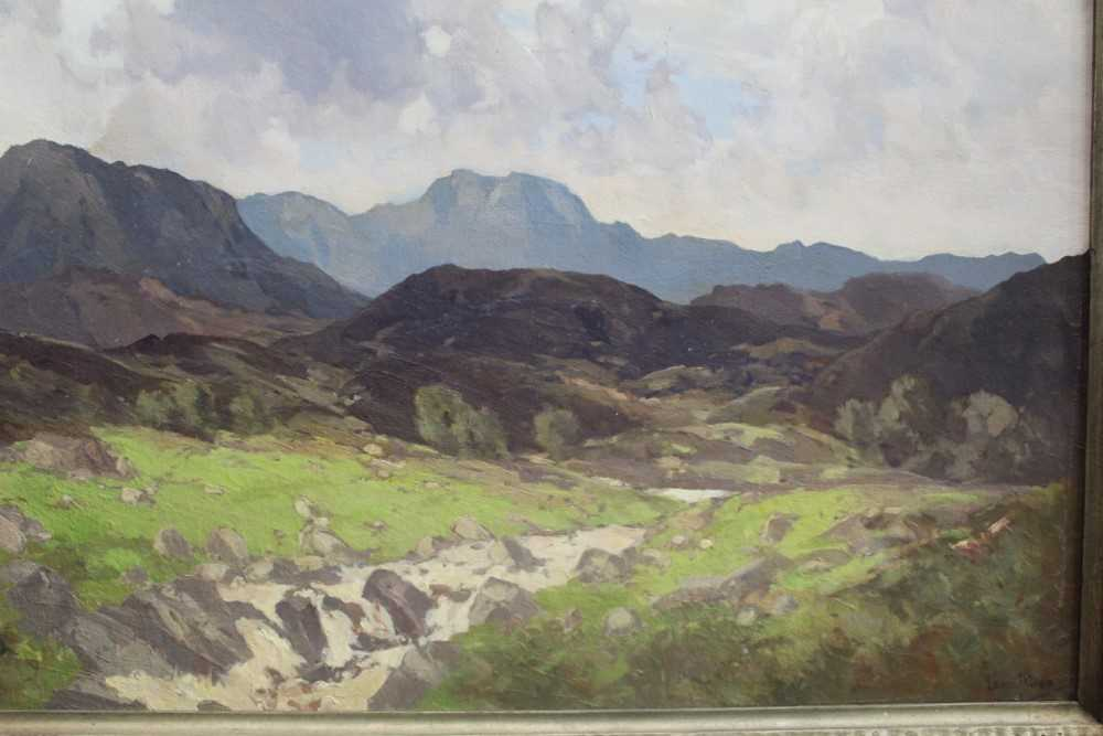 Lewis Taylor Gibb (1873-1945) oil on canvas - Extensive Scottish Landscape, signed, 63cm x 76cm, in - Image 10 of 14
