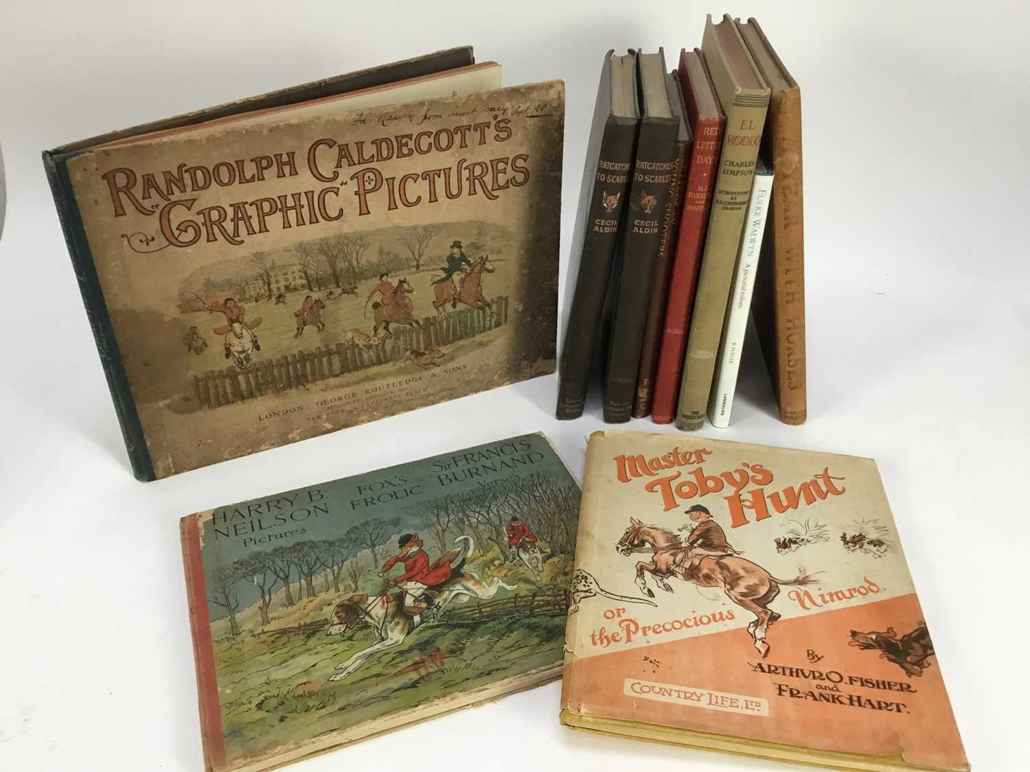 Collection various sporting related books