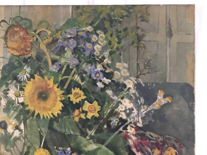 "Beryl Maud Sinclair (1901-1967) oil on canvas - ""An Essex Bouquet"", unframed - Image 3 of 8"