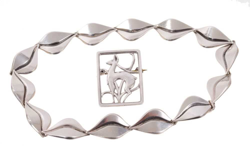 Danish silver necklace and brooch