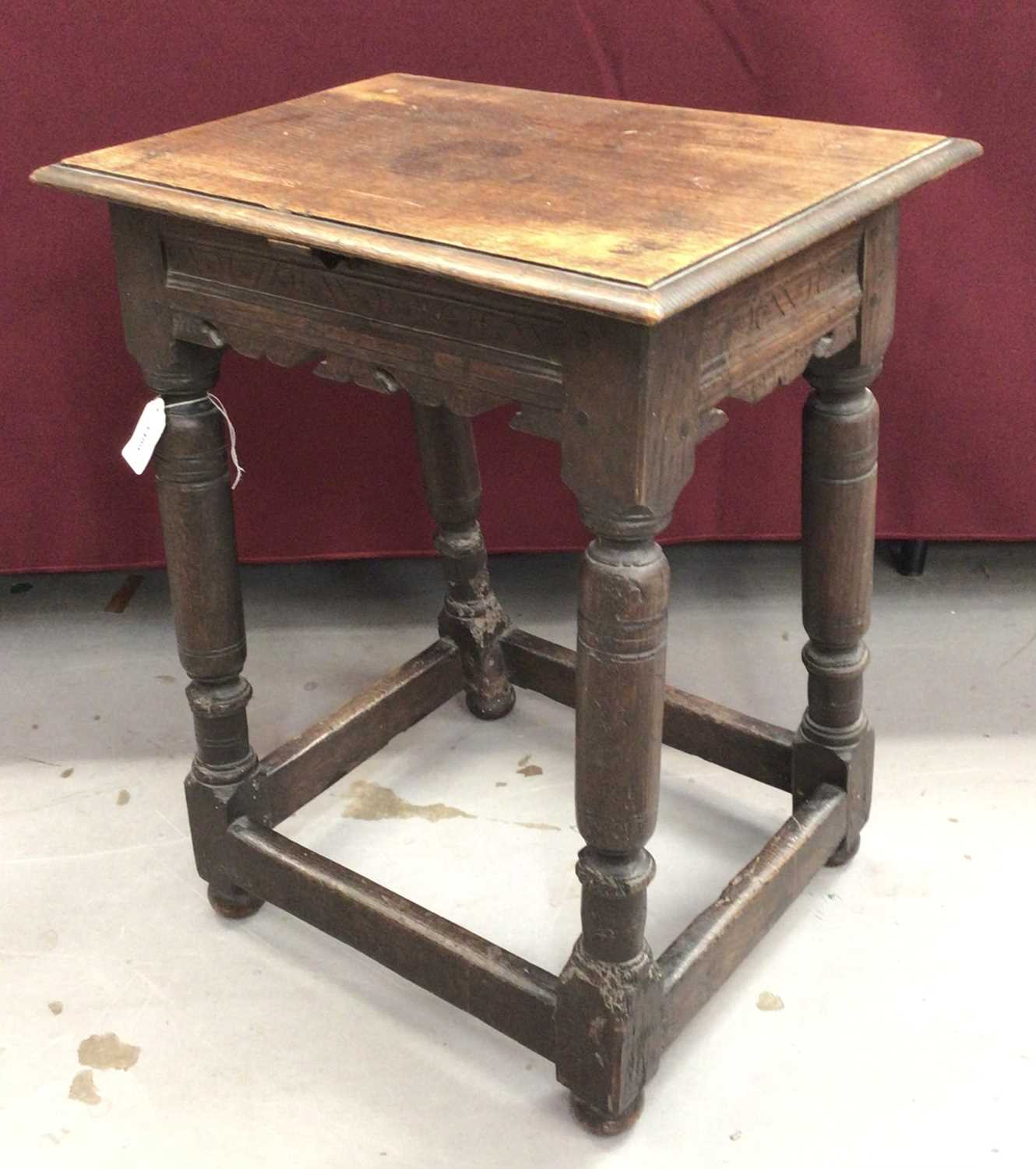 17th century and later oak joint stool