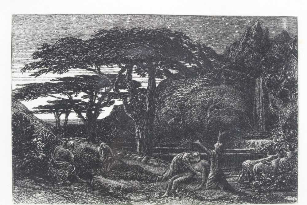 Samuel Palmer (1805-1881) pair of etchings - The Sepulchre and The Cypress Grove, in glazed gilt fra - Image 10 of 12