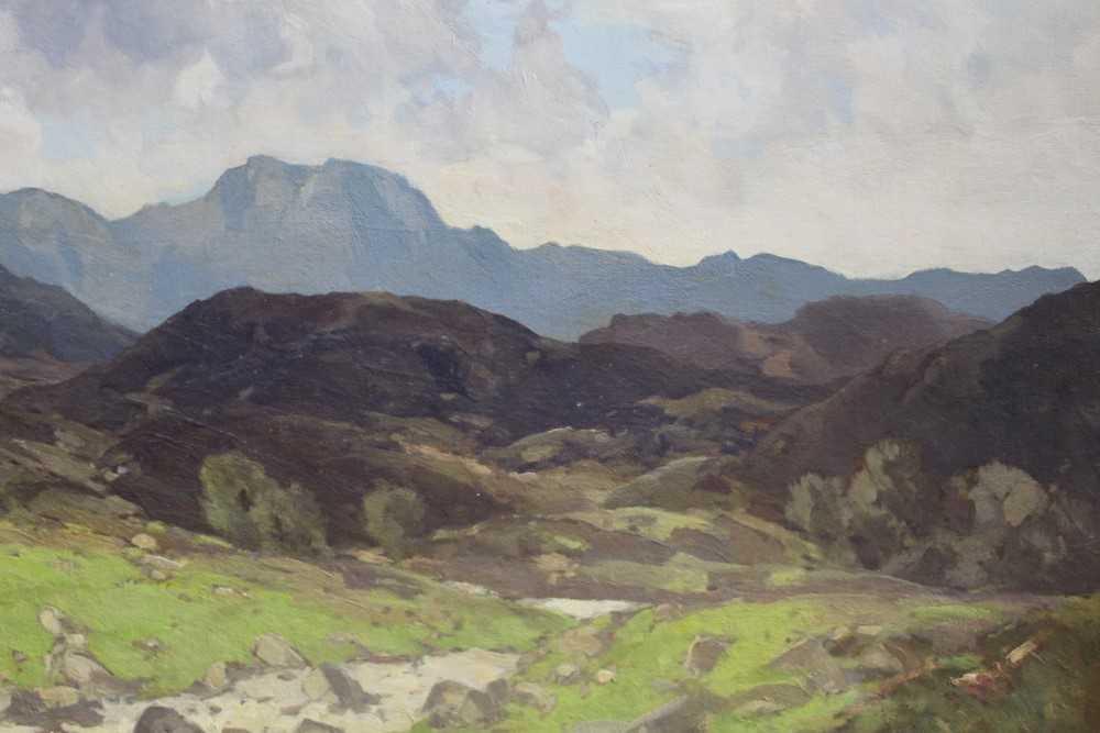 Lewis Taylor Gibb (1873-1945) oil on canvas - Extensive Scottish Landscape, signed, 63cm x 76cm, in - Image 11 of 14