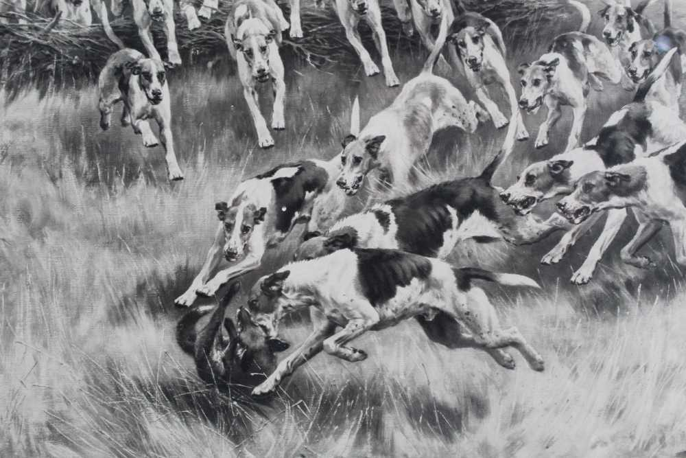 Thomas Blinks (1860-1912) three signed photogravures - Hunting Scenes, 40cm x 57cm, in glazed frames - Image 14 of 15