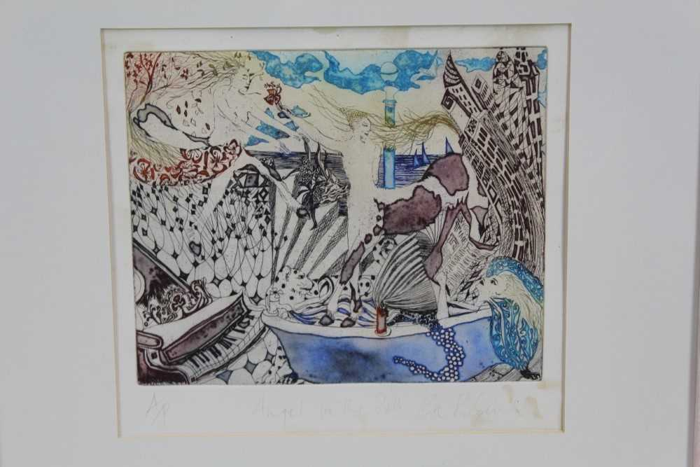 Group of contemporary signed etching etchings, prints and other works, mostly East Anglian artists t - Image 21 of 42