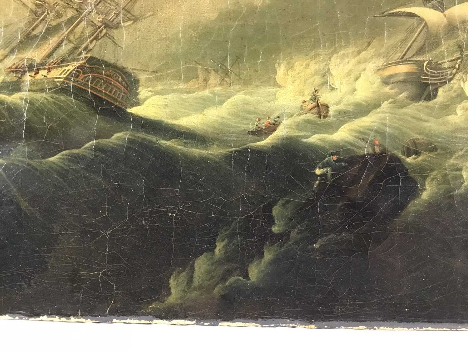 Attributed to Joseph Vernet (1714-1789) oil on canvas - shipping crashing against the rocks, 55cm x - Image 3 of 12