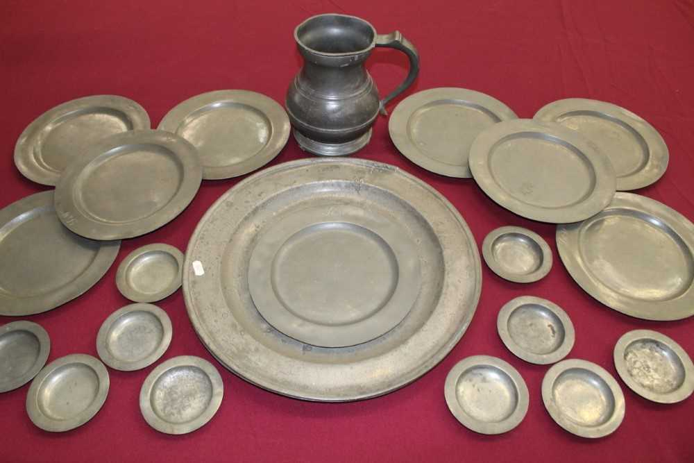 Good extensive collection of pewter