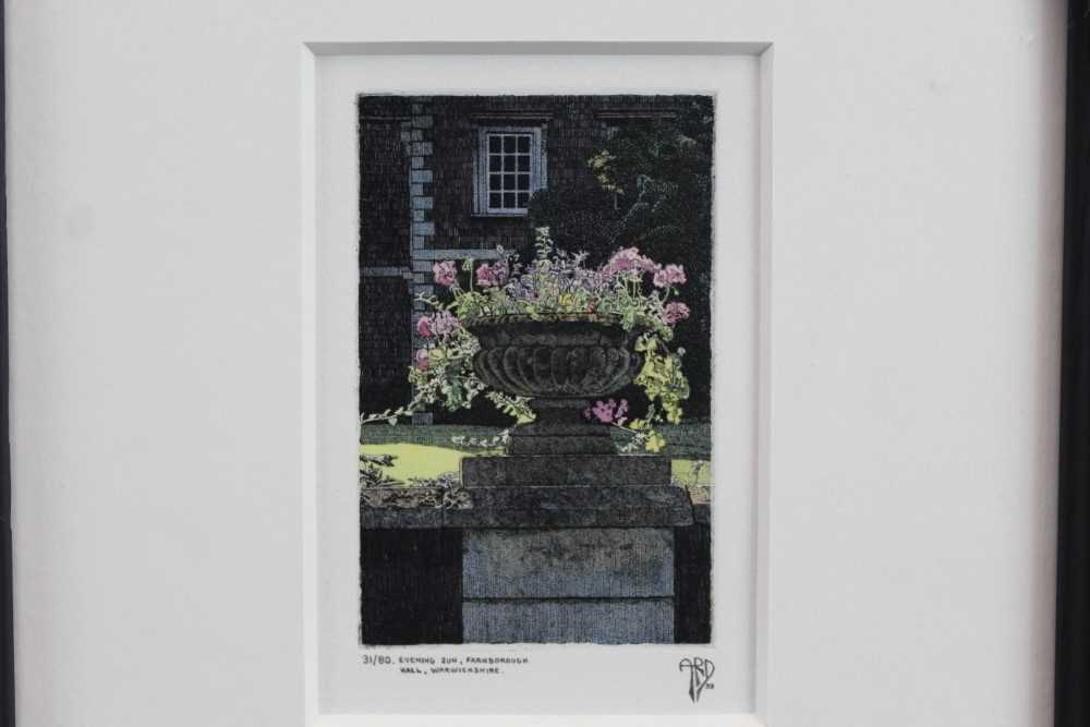 Anthony Dawson signed limited edition etching - Evening Sun, 31/80, in glazed frame Provenance: Th