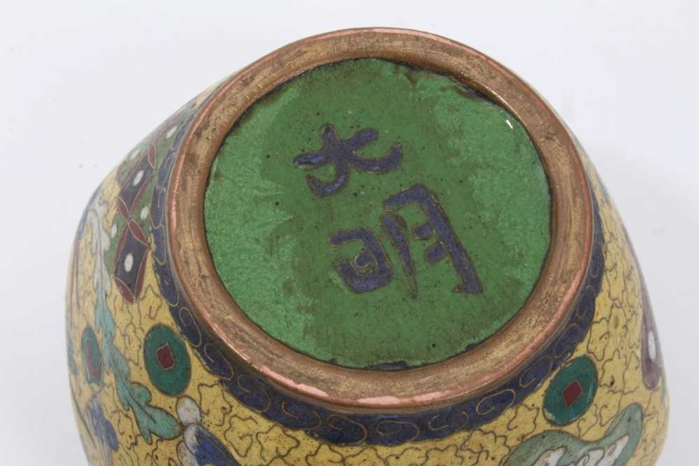 Japanese cloisonné pot and cover, together with another - Image 10 of 10