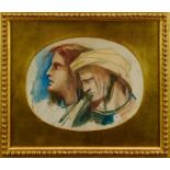 Louisa Anne, Marchioness of Waterford (1818-1891) watercolour – Saul and David, in glazed gilt fra
