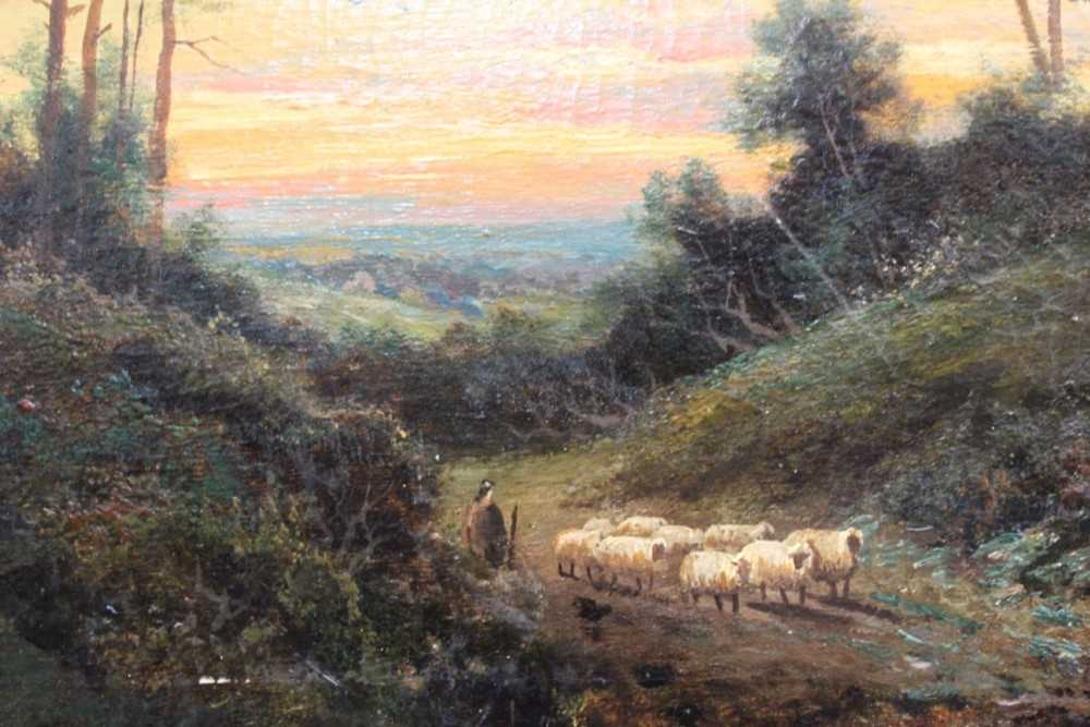 """Francis E. Jamieson 1895 - 1950 """"Bringing Home The Sheep"""", oil on canvas, signed. 50 x 75cm. - Image 12 of 14"""