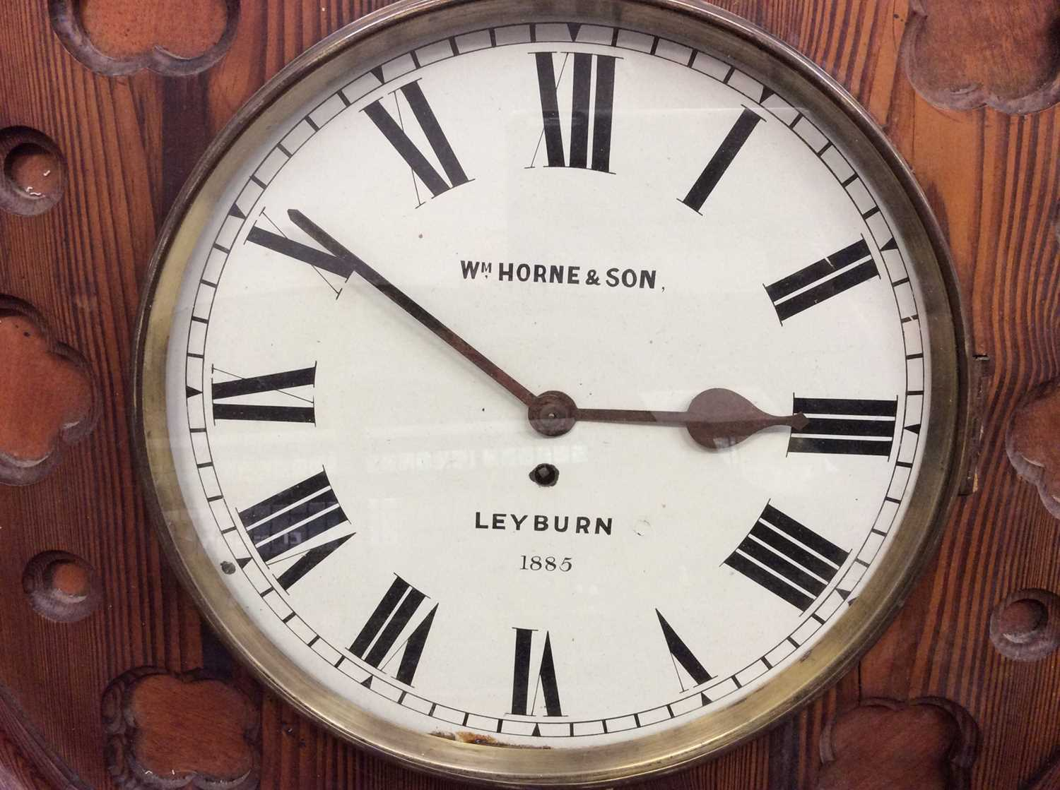 Victorian Gothic wall clock - Image 2 of 6