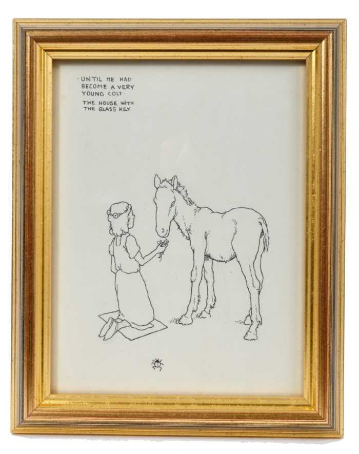 William Heath Robinson (1872-1944) pen and ink illustration - 'Until he had become a very young colt