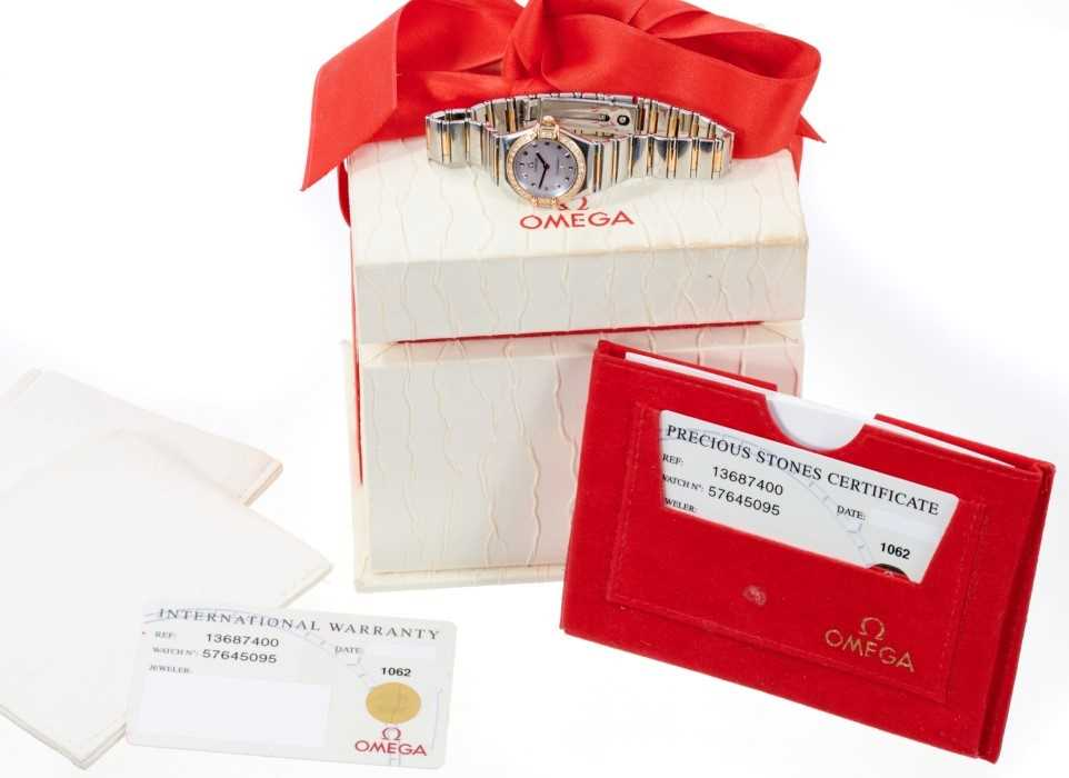 Ladies Omega Constellation watch, with box and papers - Image 5 of 5