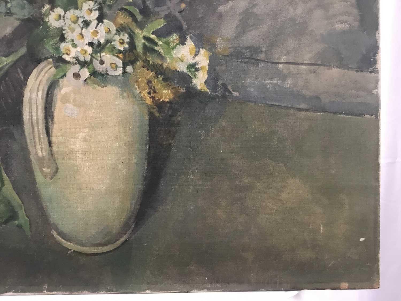 "Beryl Maud Sinclair (1901-1967) oil on canvas - ""An Essex Bouquet"", unframed - Image 5 of 8"