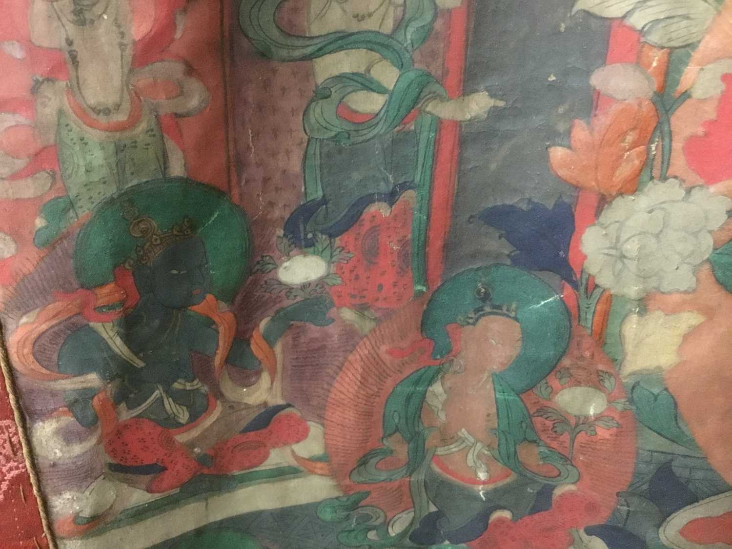 Early Tibetan thangka together with a related framed letter - Image 13 of 14