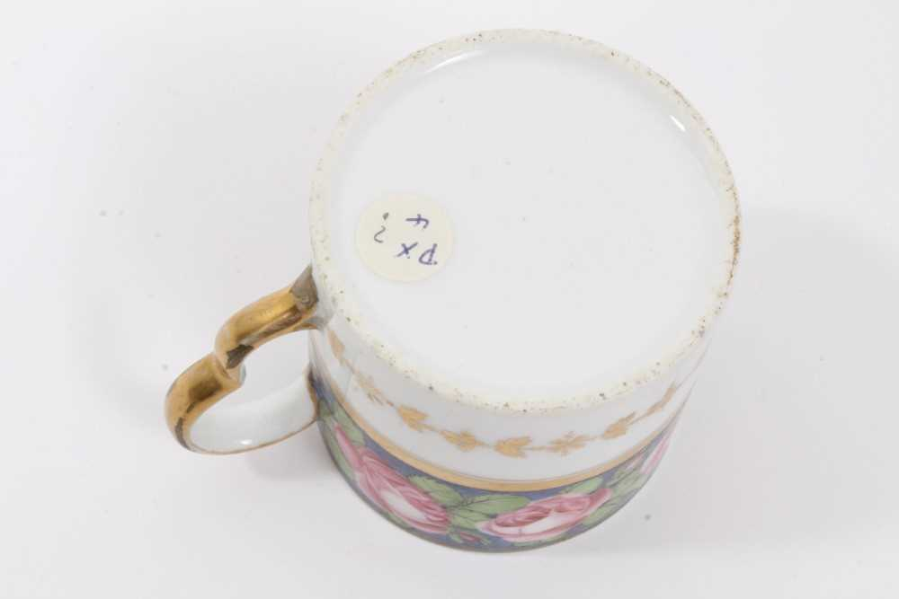 A very rare Wxxx Factory helmet shaped jug - ex Godden Reference Collection, and a Paris porcelain c - Image 4 of 10