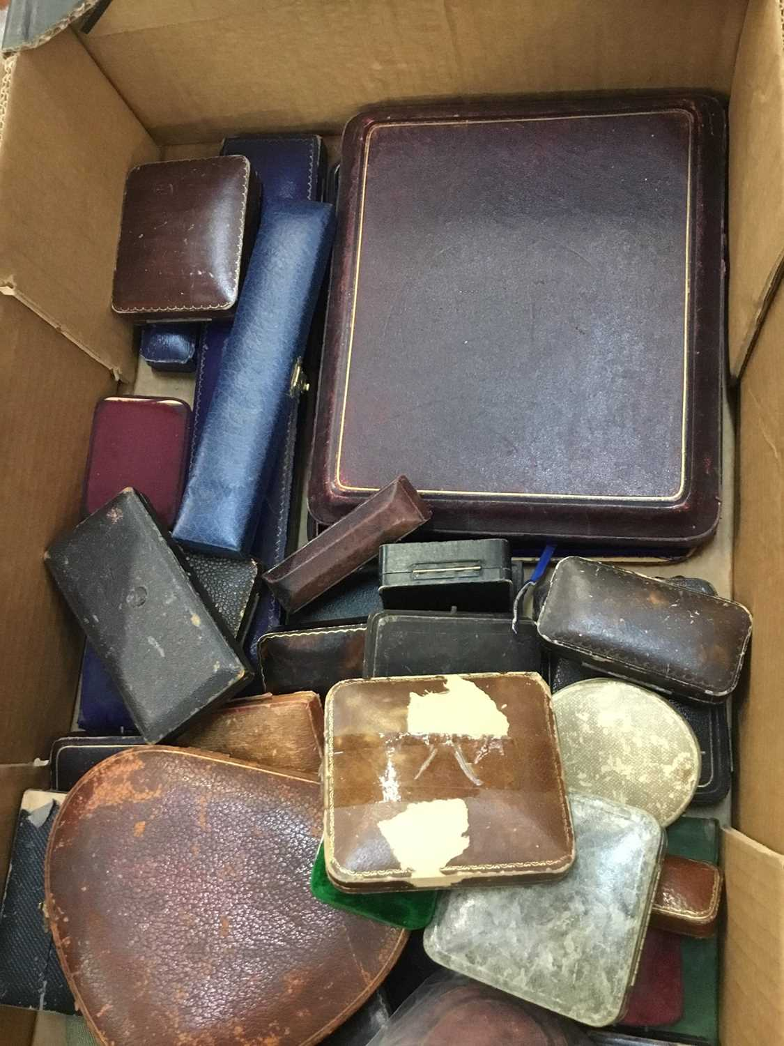 Collection of antique and vintage jewellery boxes various - Image 3 of 3