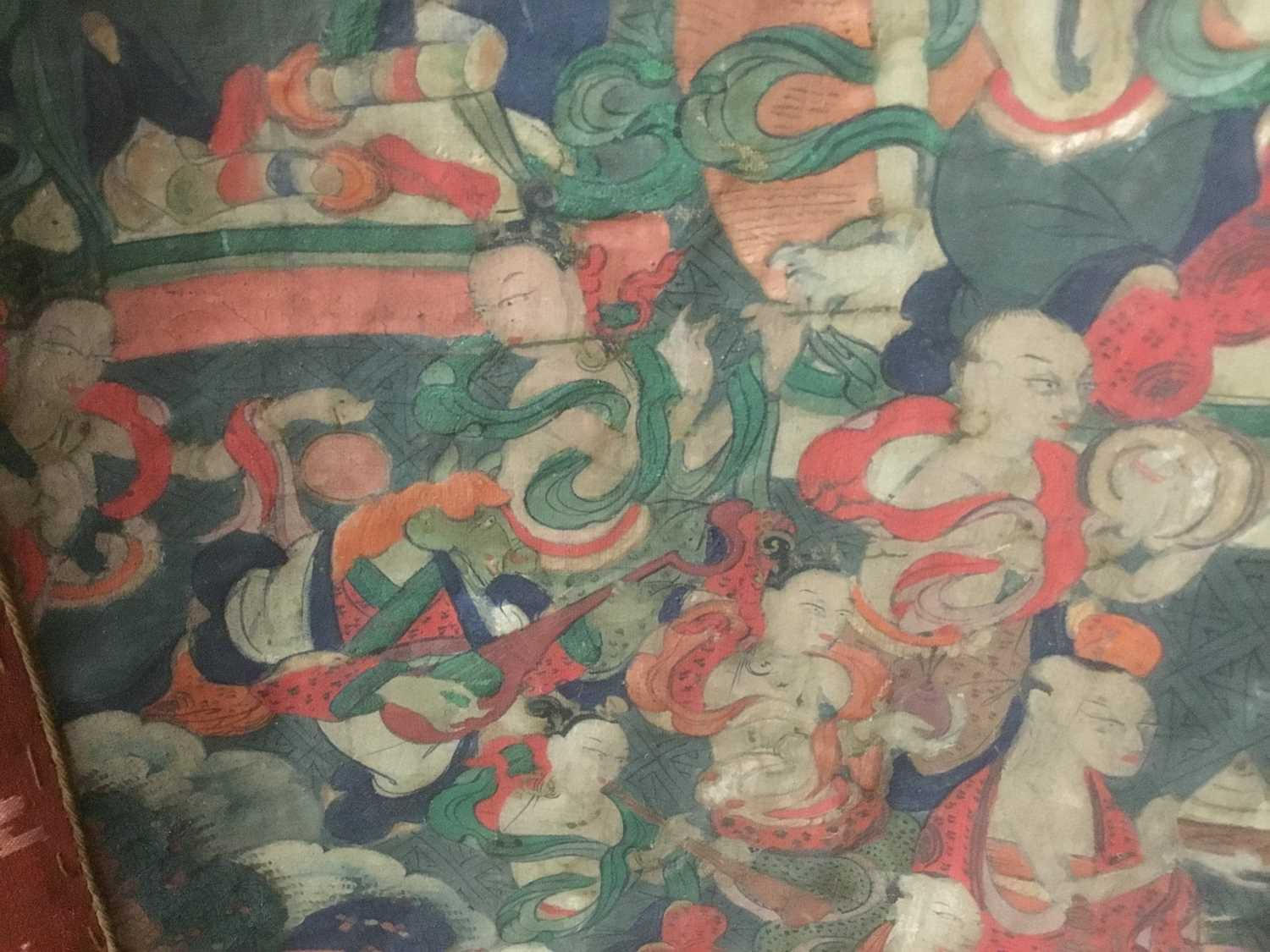 Early Tibetan thangka together with a related framed letter - Image 8 of 14