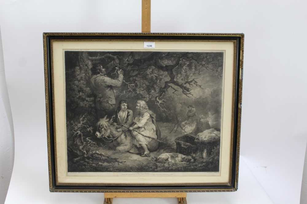 Late 18th century mezzotint by W. Ward after George Morland - The Woodcutter, published 1792 by Orme - Image 2 of 10