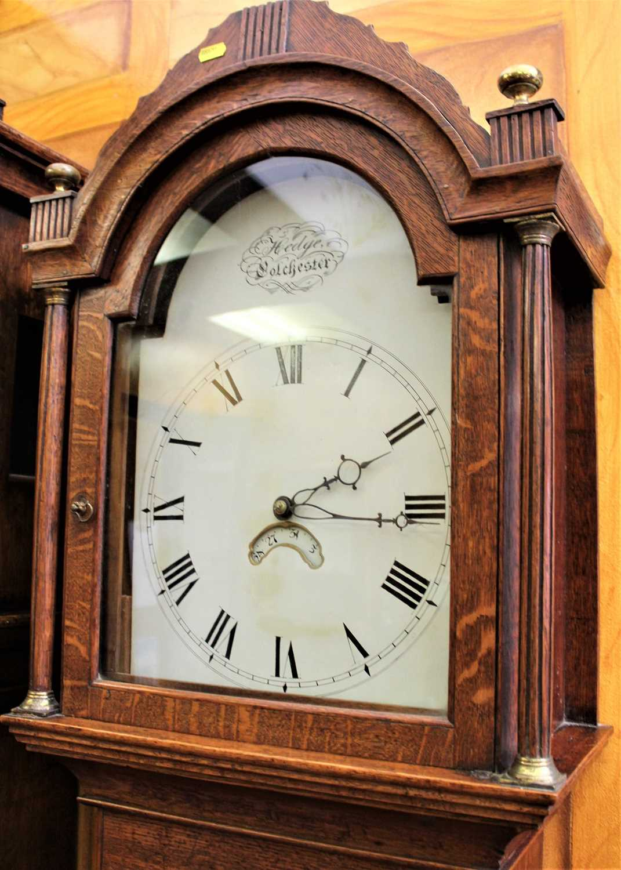 Hedge of Colchester, George III 30 hour oak longcase clock. - Image 2 of 8