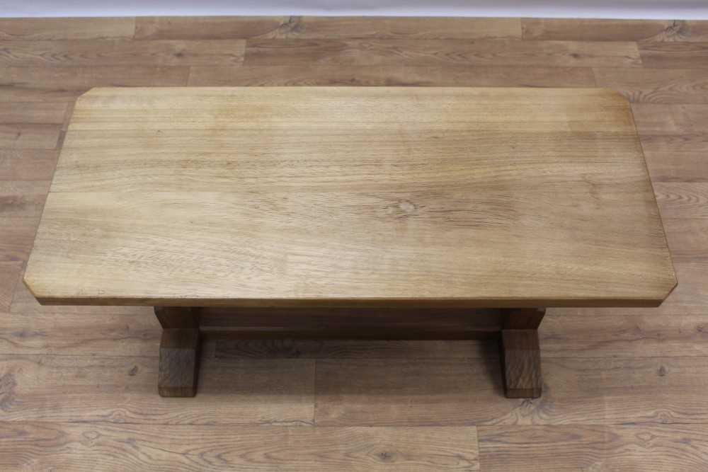 Manner of Robert 'Mouseman' Thompson of Kilburn, hardwood coffee table - Image 2 of 4