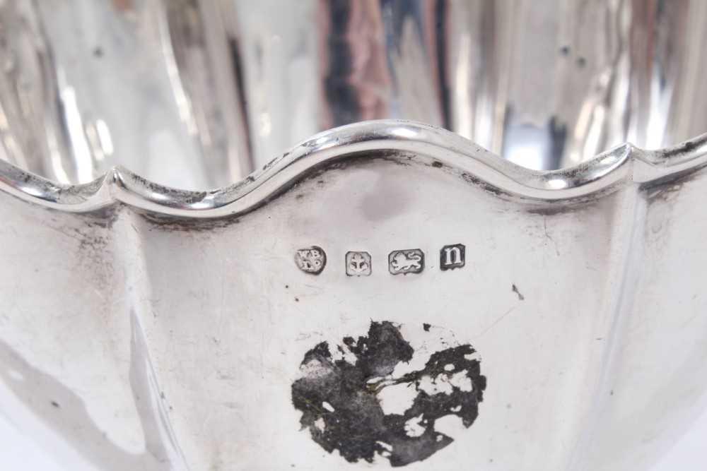 George V silver bowl of fluted form. - Image 3 of 3