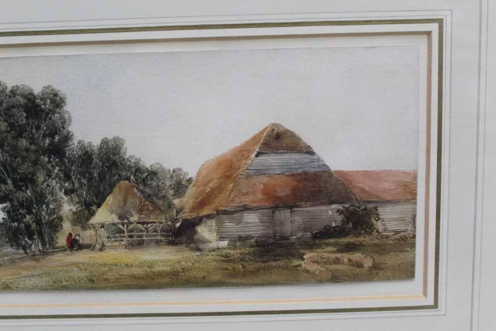 Edward Duncan (1803-1882) watercolour- Landscape with cattle - Image 5 of 7